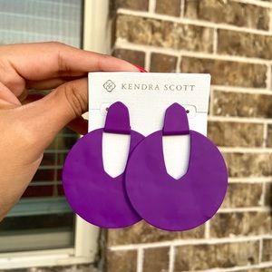 New Kendra Scott Purple Diane Earrings